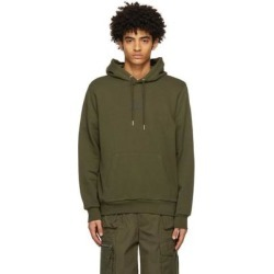 Khaki Small Logo Hoodie - Green - DIESEL Sweats