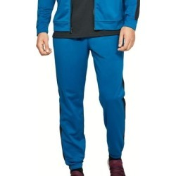 Under Armour Mens Unstoppable Track Pant Blue Large L Side Stripe Jogger (L), Men's(polyester) found on Bargain Bro Philippines from Overstock for $27.99