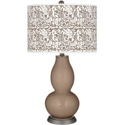 Mocha Gardenia Double Gourd Table Lamp found on Bargain Bro from LAMPS PLUS for USD $113.99