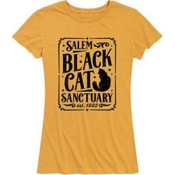Instant Message Women's Women's Tee Shirts HEATHER - Heather Golden Meadow 'Black Cat Sanctuary' Relaxed-Fit Tee - Women & Plus found on Bargain Bro India from zulily.com for $14.99