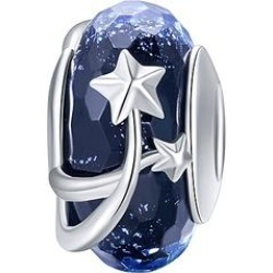 Silver Angle Women's Jewelry Charms solid - Navy & Sterling Silver Shooting Star Charm found on Bargain Bro Philippines from zulily.com for $16.99