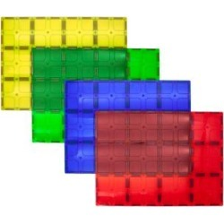 PicassoTiles Toy Block Sets - PicassoTiles Four-Piece Magnetic Tiles Stabilizer Set found on Bargain Bro from zulily.com for USD $15.19