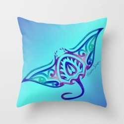 "Couch Throw Pillow | Tribal Manta Ray by Artsytoocreations - Cover (16"" x 16"") with pillow insert - Indoor Pillow - Society6"