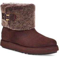 UGG Classic Mini Berge Genuine Shearling Boot - Brown - Ugg Boots found on Bargain Bro from lyst.com for USD $121.60