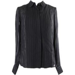 Tommy Hilfiger Black Sheer Striped Blouse S (Black - S), Women's found on Bargain Bro Philippines from Overstock for $13.09