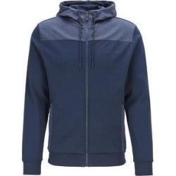 Hugo Boss Saggy Curved Logo Zip Throug Hooded Sweatshirt (S), Men's, Blue found on MODAPINS from Overstock for USD $179.35