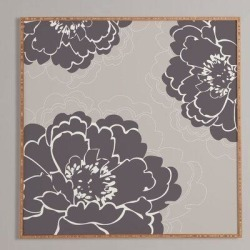 Winston Porter 'Winter Peony' - Picture Frame Graphic Art Print on Wood Wood in Brown/Gray, Size 12.0 H x 12.0 W x 1.0 D in   Wayfair found on Bargain Bro Philippines from Wayfair for $48.99