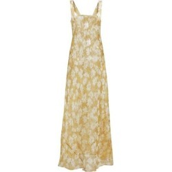 Anais Printed Silk Maxi Dress - Yellow - Sir. The Label Dresses found on MODAPINS from lyst.com for USD $400.00