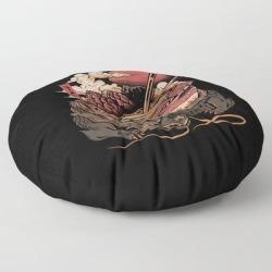 Floor Pillow | Dragon's Ramen by Ilustrata - ROUND - 30