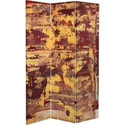 6 ft. Tall Embers Canvas Room Divider found on Bargain Bro Philippines from Overstock for $273.49