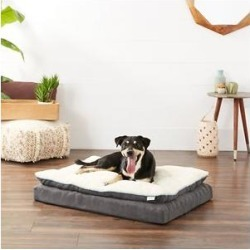 Frisco Plush Orthopedic Pillowtop Dog Bed w/Removable Cover, Gray, Large found on Bargain Bro from Chewy.com for USD $47.87