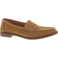 Sperry Top-Sider Seaport Penny Stud Suede - Womens 6 Tan Slip On Medium found on Bargain Bro from ShoeMall.com for USD $45.59