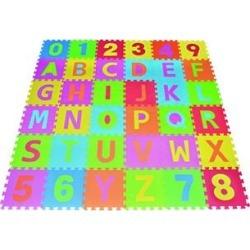 Amazing Tech Depot Floor Tiles - Alphabet Puzzle Play Mat ABC Foam Tile Rainbow Floor