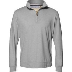 Vintage Microstripe Quarter-Zip Pullover (Grey Heather - 2XL), Men's, Gray Grey, Weatherproof(cotton) found on MODAPINS from Overstock for USD $44.21