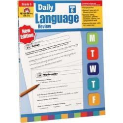 Evan-Moor Educational Publishers Educational Workbooks - Grade 6 Daily Language Review Workbook found on Bargain Bro from zulily.com for USD $12.15
