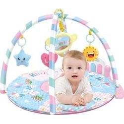 Redboard Large Baby Game Pad Music Pedal Piano Music Fitness Rack Crawling Mat, Size 1.0 H x 63.0 W x...