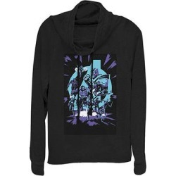 Fifth Sun Women's Sweatshirts and Hoodies BLACK - Avengers Black Logo Pop Art Cowl Neck Pullover - Women & Plus found on Bargain Bro from zulily.com for USD $21.27