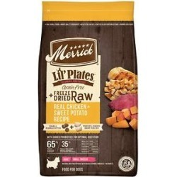 Merrick Lil' Plates Grain Free Small Breed Dry Dog Food Real Chicken, Sweet Potatoes + Peas With Raw Bites Recipe, 10-lb bag