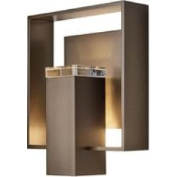 Hubbardton Forge Shadow Box 11 Inch Tall 1 Light Outdoor Wall Light - 302603-1010 found on Bargain Bro from Capitol Lighting for USD $660.44