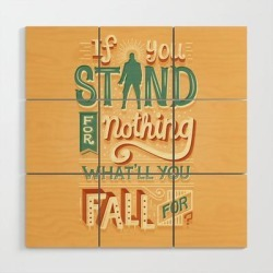 Wooden Wall Art | Make A Stand by Risa Rodil - 3' X 3' - Society6