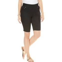 Plus Size Women's Comfort Waist Short by Jessica London in Black (Size 12 W) found on Bargain Bro Philippines from Ellos for $39.99