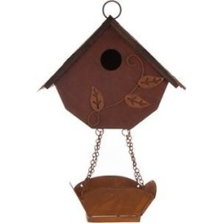 Glitzhome Distressed Solid Wood Bird House & Bird Bath, 12.91-in found on Bargain Bro from Chewy.com for USD $19.49