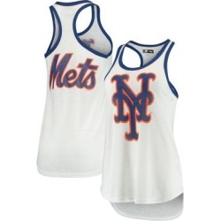New York Mets G-III 4Her by Carl Banks Women's Tater Racerback Tank Top - White found on Bargain Bro from Fanatics for USD $21.27