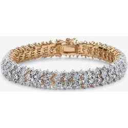 Women's Yellow Gold Plated Round Genuine Diamond Tennis Bracelet (7/8 cttw) (IJ Color, I2-I3 Cla by PalmBeach Jewelry in Gold found on Bargain Bro Philippines from Ellos for $179.99