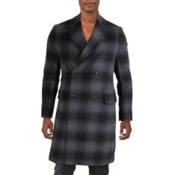 French Connection Mens Coat Wool Blend Cold Weather - Grey/Black Check (XS), Men's, Gray/Black Check found on Bargain Bro Philippines from Overstock for $48.39