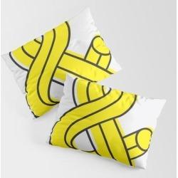 Ampersand King Size Pillow Sham by Madeyoul__k - STANDARD SET OF 2 - Cotton