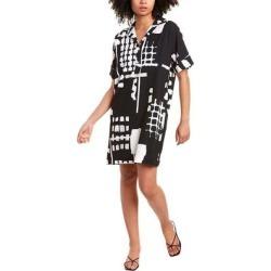 Natori Block Print Mini Dress (XS), Women's, Black(polyester) found on Bargain Bro India from Overstock for $87.99