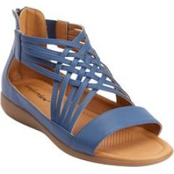 Women's The Alicia Sandal by Comfortview in Denim (Size 10 1/2 M) found on Bargain Bro Philippines from Woman Within for $51.99