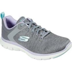 Skechers Women's Sneakers GYLV - Gray & Lavender Flex Appeal 4.0 Sneaker - Women found on Bargain Bro India from zulily.com for $54.99