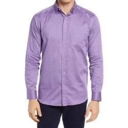 Diamond Grid Button-up Shirt - Purple - Johnston & Murphy Shirts found on Bargain Bro Philippines from lyst.com for $100.00