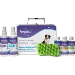 Vetnique Labs Furbliss Grooming & Bathing Long Hair, Shampoos, Conditioner, Sprays & Brush Dog & Cat Grooming Kit