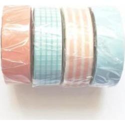 MT masking tape - Set Of 4 Peach And Turquoise Washi Masking Tapes