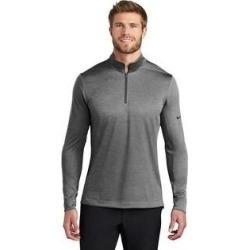 Nike Men's Dry 1/2 Zip Warm Up (Black Heather - Large), Black Grey(polyester, Solid) found on Bargain Bro from Overstock for USD $48.63