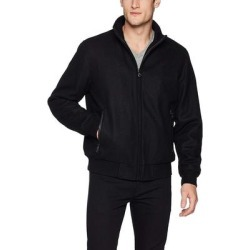 Calvin Klein Mens Jacket Black Size XL Full Zip Rib Trim Bomber Wool (XL), Men's found on Bargain Bro Philippines from Overstock for $115.98