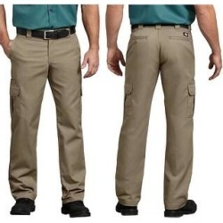Dickies Men's Flex Regular Fit Straight Leg Work Cargo Pants (Khaki - 42X30), Brown(cotton) found on Bargain Bro from Overstock for USD $24.99