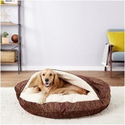 Snoozer Pet Products Orthopedic Microsuede Cozy Cave Dog & Cat Bed, Laurel Cayenne, X-Large found on Bargain Bro Philippines from Chewy.com for $186.95