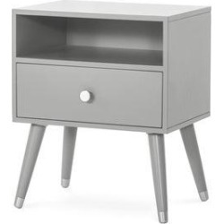 Forever Eclectic Mod Nightstand with Drawer and Shelf (Cool Gray)