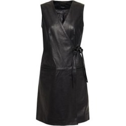 Leather Mini Wrap Dress - Black - Muubaa Dresses found on MODAPINS from lyst.com for USD $261.00