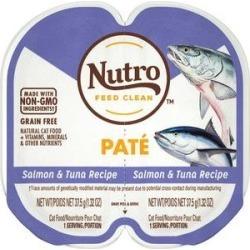 Nutro Natural Choice Perfect Portions Grain-Free Salmon & Tuna Recipe Cat Food Trays, 1.3-oz, 24ct