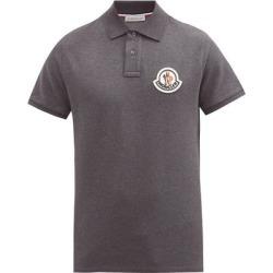 Logo-appliqué Cotton-piqué Polo Shirt - Gray - Moncler T-Shirts found on Bargain Bro from lyst.com for USD $224.20