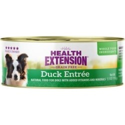 Health Extension Grain-Free Duck Entree Canned Dog Food, 5.5-oz, case of 24