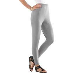 Plus Size Women's Ankle-Length Essential Stretch Legging by Roaman's in Heather Grey (Size 5X) found on Bargain Bro Philippines from Roamans.com for $16.99