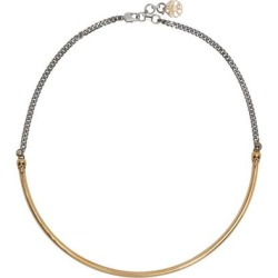 Silver & Gold Skull Choker - Metallic - Alexander McQueen Necklaces found on Bargain Bro Philippines from lyst.com for $750.00