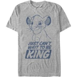 Fifth Sun Men's Tee Shirts ATH - The Lion King Athletic Heather 'Just Can't Wait To Be King' Tee - Men found on Bargain Bro Philippines from zulily.com for $11.64
