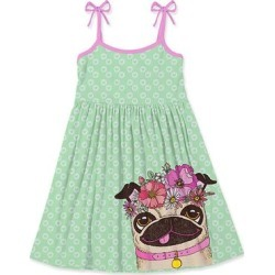 Sunshine Swing Girls' Casual Dresses - Mint & Pink Floral Pug Tie-Strap Babydoll Dress - Girls found on Bargain Bro Philippines from zulily.com for $16.99