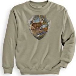 Men's Signature Graphic Sweatshirt - Armour Buck, Putty Tan M found on Bargain Bro India from Blair.com for $24.99
